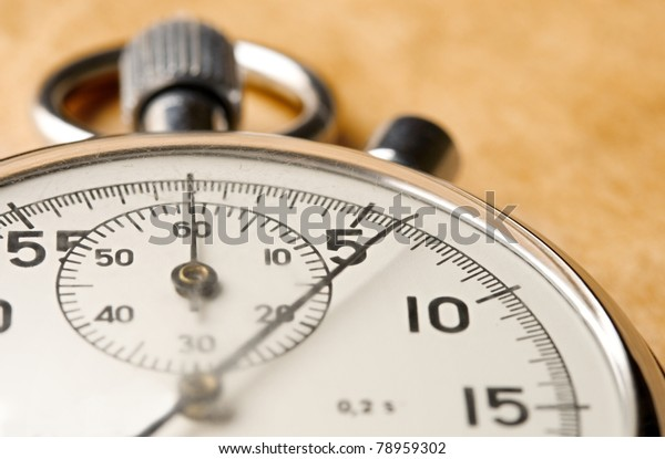 Stopwatch on paper background