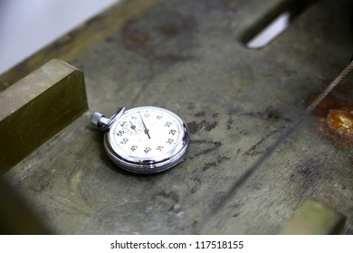 Stopwatch on a table