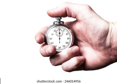 Stopwatch white