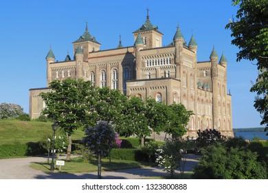 Stora Sundby, Eskilstuna SV / Sweden - May 24, 2018: Stora Sundby castle in spring sunny day, Sweden