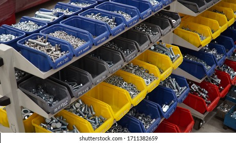 Storage box for bolts, nuts, screws. screw boxes