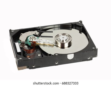 Storage device on white background