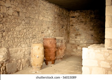 Storage room at Knossos Archeological Site in Crete, Greece