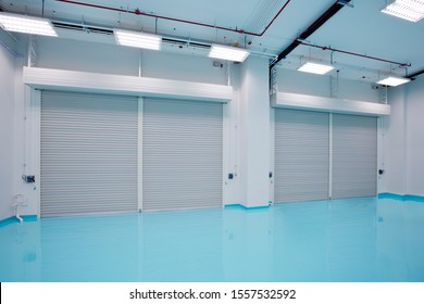 Storage room with shutter and epoxy floor