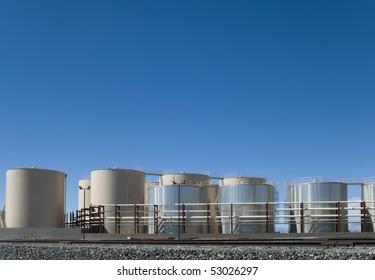 Storage tank yard