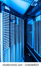 storage tapes in internet data center room
