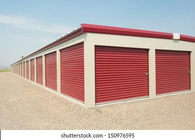 Storage unit at a storage facility.