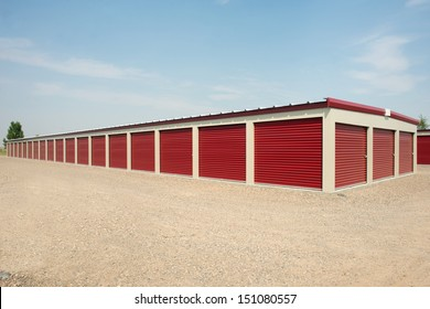 Storage units at a commercial facility.