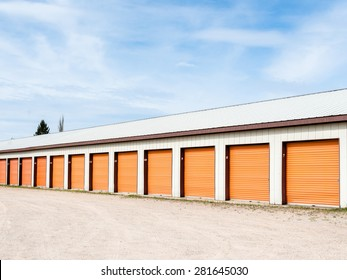 Storage units at a storage facility