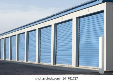 Storage units in a self storage facility.