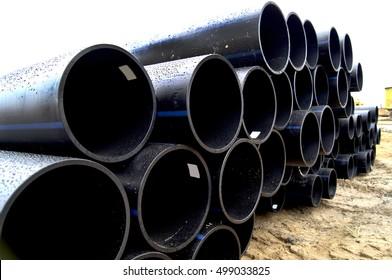 Storage water pipes of large diameter polyethylene