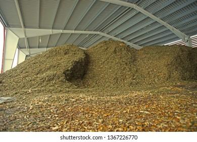 storage of wooden fuel (biomass)