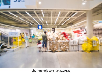 Store blurred shopping mall with people abstract defocused blurred background