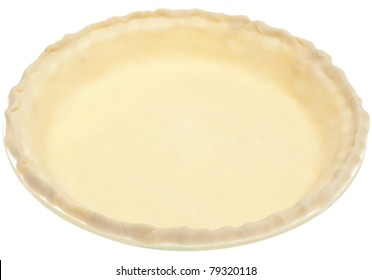 Store Bought Pie Crust Before Cooking Isolated on White with a Clipping Path.