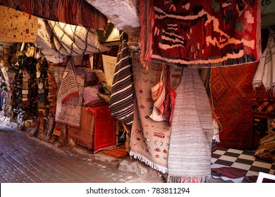 store of carpets in the souks of Marrakesh