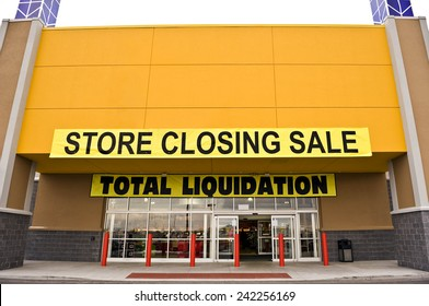 Store Closing Sale With Copy Space