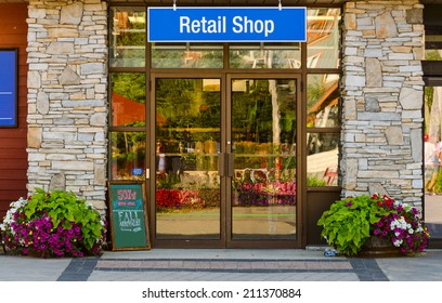 Store with Retail Shop Sign