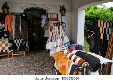 Store selling local products in Colonia del Sacramento, Uruguay. It is one of the oldest towns in Uruguay