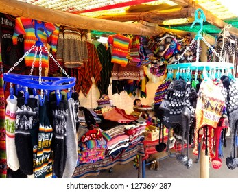 store selling South American Indian woven fabrics. Colorful handmade native blankets.