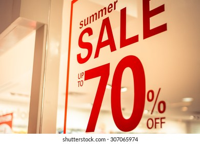store summer sale sign