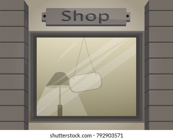Store window with copy space
