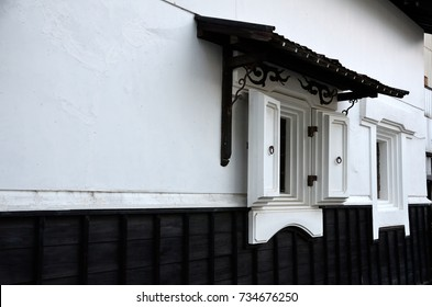 a storehouse with thick mortar walls.Japanese warehouse;Kura