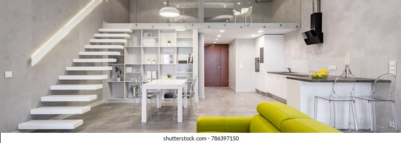 Loft Apartment Images Stock Photos Vectors Shutterstock Interesting Loft Apartment Interior Design