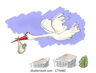 stork to bring test-tube baby
