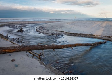Storm aftermath on the seashore.