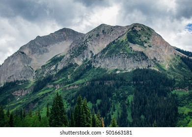 Storm brewing over mountains in Crested Butte, Colorado