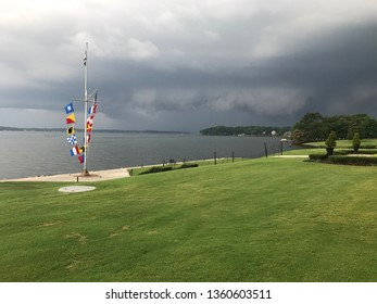 Storm Brewing over the Tennessee River behind the Nautical Flags
