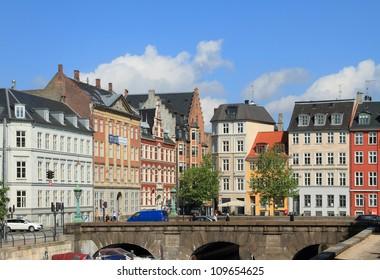 Storm Bridge and Nybrogade Street, Copenhagen, Denmark