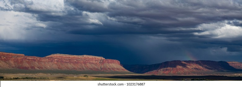 Storm clouds above desert buttes in southern Utah