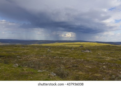 Storm clouds in Finnish Lapland.