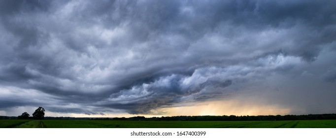 Storm clouds gathering in Perry Green, Much Hadham, Hertfordshire. UK