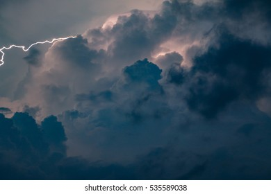 storm clouds with lightening