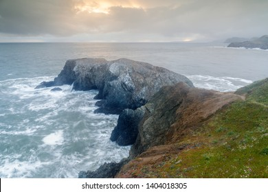 Storm Clouds over Marin Headlands near Battery Mendell and Rodeo Beach. Sausalito, Marin County, California, USA.