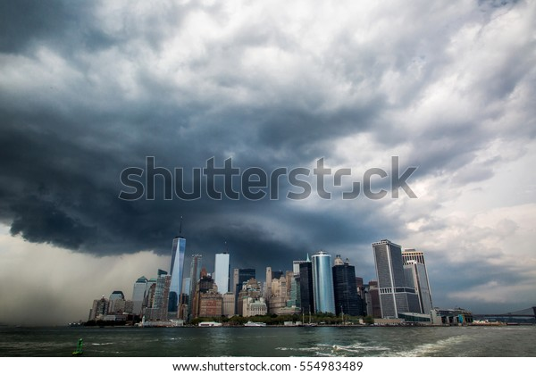 Storm clouds over New York City