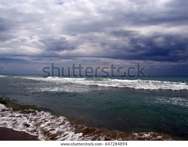 Storm clouds over the Tyrrhenian sea