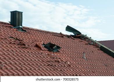 storm damage after thunderstorm in bavaria