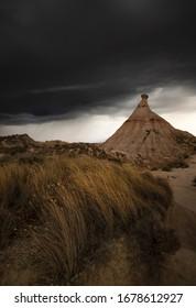 Storm in the desrt of Navarra