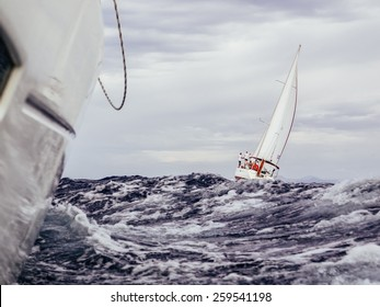Storm during sailing