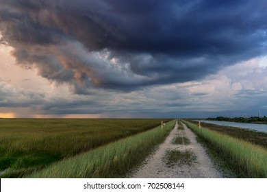 Storm Hangs over the Path
