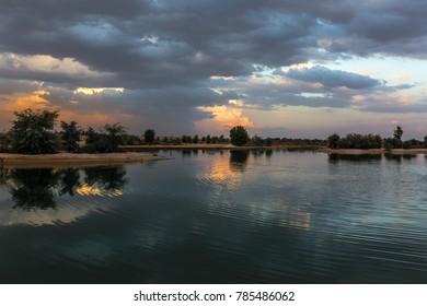 Storm at lake