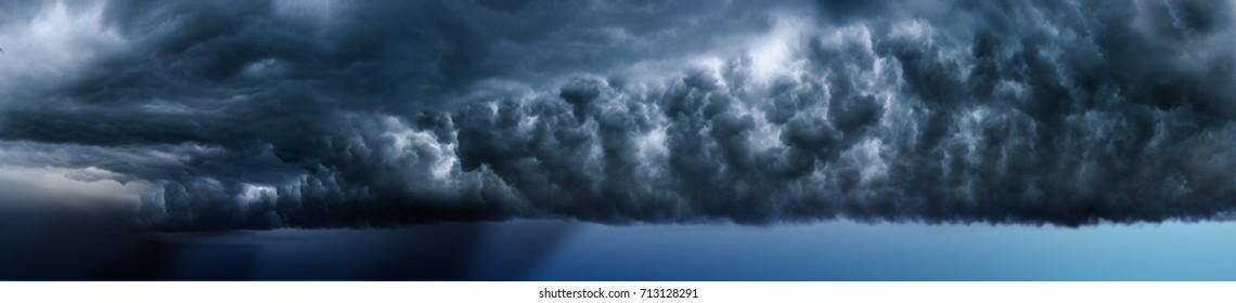 Storm. Lightning in the landscape