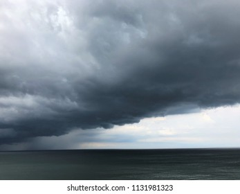Storm moving in over the Atlantic Ocean