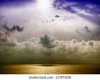 Sea and sky. HDR photo