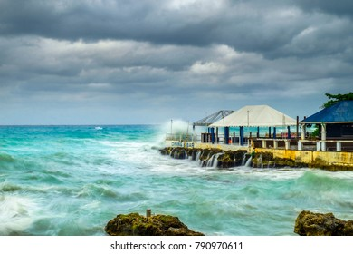 Storm over the Caribbean Sea, George Town, Grand Cayman, Cayman Islands, Dec 2017