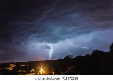 Storm over hometown