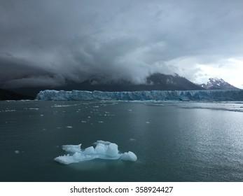 Storm over Perito Moreno Glacier in Los Glaciares National Park, Argentina